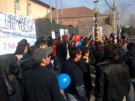 La huelga en la sucursal de Ciudad Empresarial.