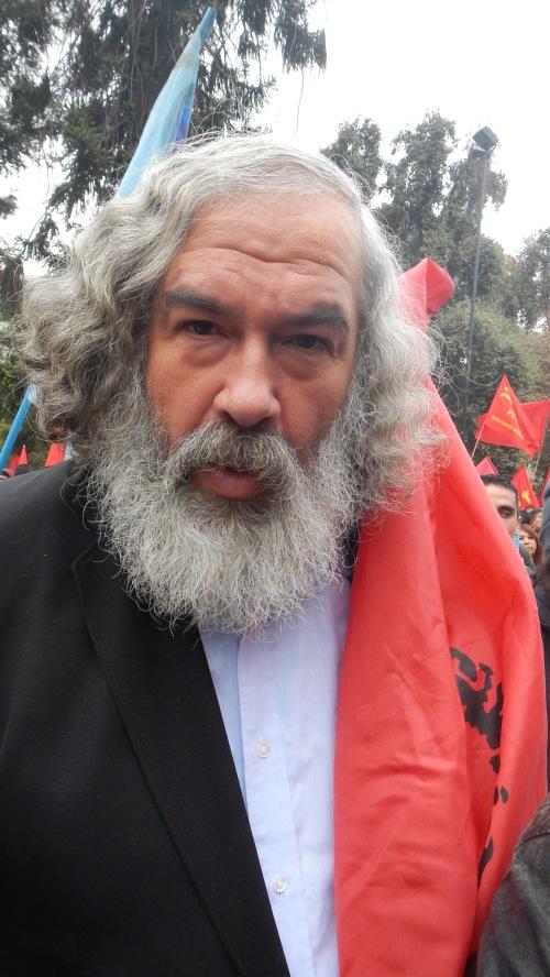 Foto tomada En el acto 1 de mayo plaza Brasil 2014