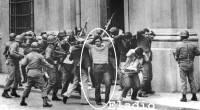 Eladio en La Moneda el día del golpe de Estado de 1973