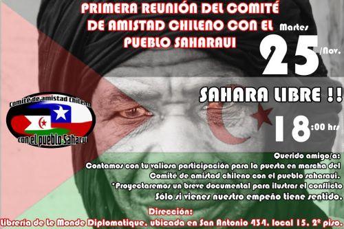 En Chile faceboox:  Comite De Amistad Chilena Con Los Saharaui https://www.facebook.com/profile.php?id=100008460615189&fref=nf