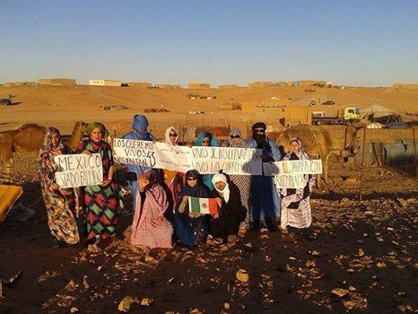 Apoyo desde el Sahara Occidental #AyotzinapaSomosTodos #YAmeCANSE2