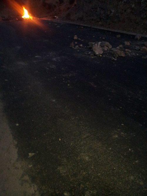 Foto tomada por Nuestras COMPAÑERAS OBS. D.D.H.H. SUTRA-CHILE entrando a Salamanca al inicio de la pelea por el agua en caimanes…