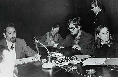 Carlos Lorca con Gladys Marín y Jaime Suárez