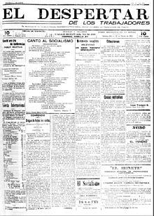 El Despertar de los Trabajadores, periódico fundado por Recabarren.