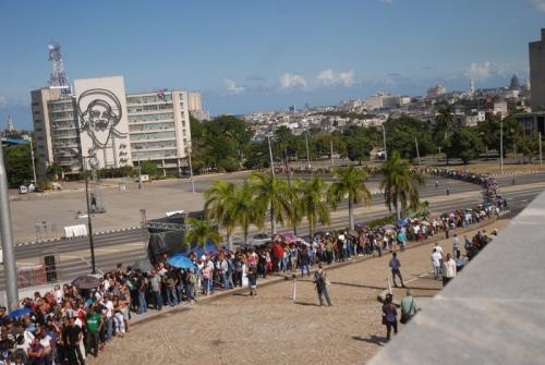 Homenaje por la desaparición física de Fidel. Plaza de La Revolución. 28 de noviembre de 2016. Foto: Agustín Borrego Torres.