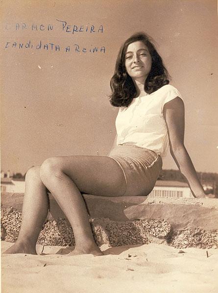 Reinalda Pereira en 1964, en El Tabo. Archivo familiar.