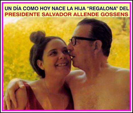 """Beatriz """"TATI"""" Allende Bussi (8 de septiembre de 1943 - La Habana, 11 de octubre de 1977), fue una médico y política de la izquierda socialista. y fue una de las tres hijas de Salvador Allende y Hortensia Bussi. Estudió medicina en la Universidad de Concepción, en donde se tituló de médico cirujano. Cuando su padre ascendió a la presidencia de Chile en 1970, Beatriz se convirtió en su más cercana asesora y colaboradora. De tendencias más radicales que Allende, hizo de contacto en las negociaciones de éste y la extrema izquierda chilena representada por el MIR. Bajo el nombre político de """"Marcela"""" integró el ELN (Ejército de Liberación Nacional en los tiempos del """"Ché"""" Guevara. Estuvo con su padre en el Palacio de La Moneda hasta el último día, a pesar de estar embarazada, y solo abandonó el palacio presidencial atacado por las fuerzas golpistas cuando su padre le ordenó a ella y a todas las mujeres que salieran. Se casó con el diplomático cubano Luis Fernández de Oña, con quien, en septiembre de 1971, tuvo una hija, MAYA Fernández , (actual Diputada).  Posterior al asesinato de su padre golpe de Estado del 11 de septiembre de 1973, se instaló en Cuba. El hijo nacido en La Habana —Alejandro Salvador Allende— fue inscrito, por decreto de Fidel Castro, invirtiendo los apellidos y colocando el de la madre primero, para impedir que se perdiera el del presidente chileno. Alejandro reside en Nueva Zelanda. """"Tati"""" Allende trabajó en el Comité Chileno de Solidaridad Antiimperialista en La Habana, donde desempeñó el cargo de secretaria ejecutiva, y cuatro años después del golpe dado por el general Augusto Pinochet, terminó suicidándose de un disparo de revólver. Fue sepultada en Panteón de las Fuerzas Armadas Revolucionarias en el Cementerio de Colón de la capital cubana. Veronica Brito Castro"""