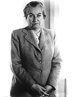 Gabriela Mistral en los años 1950.